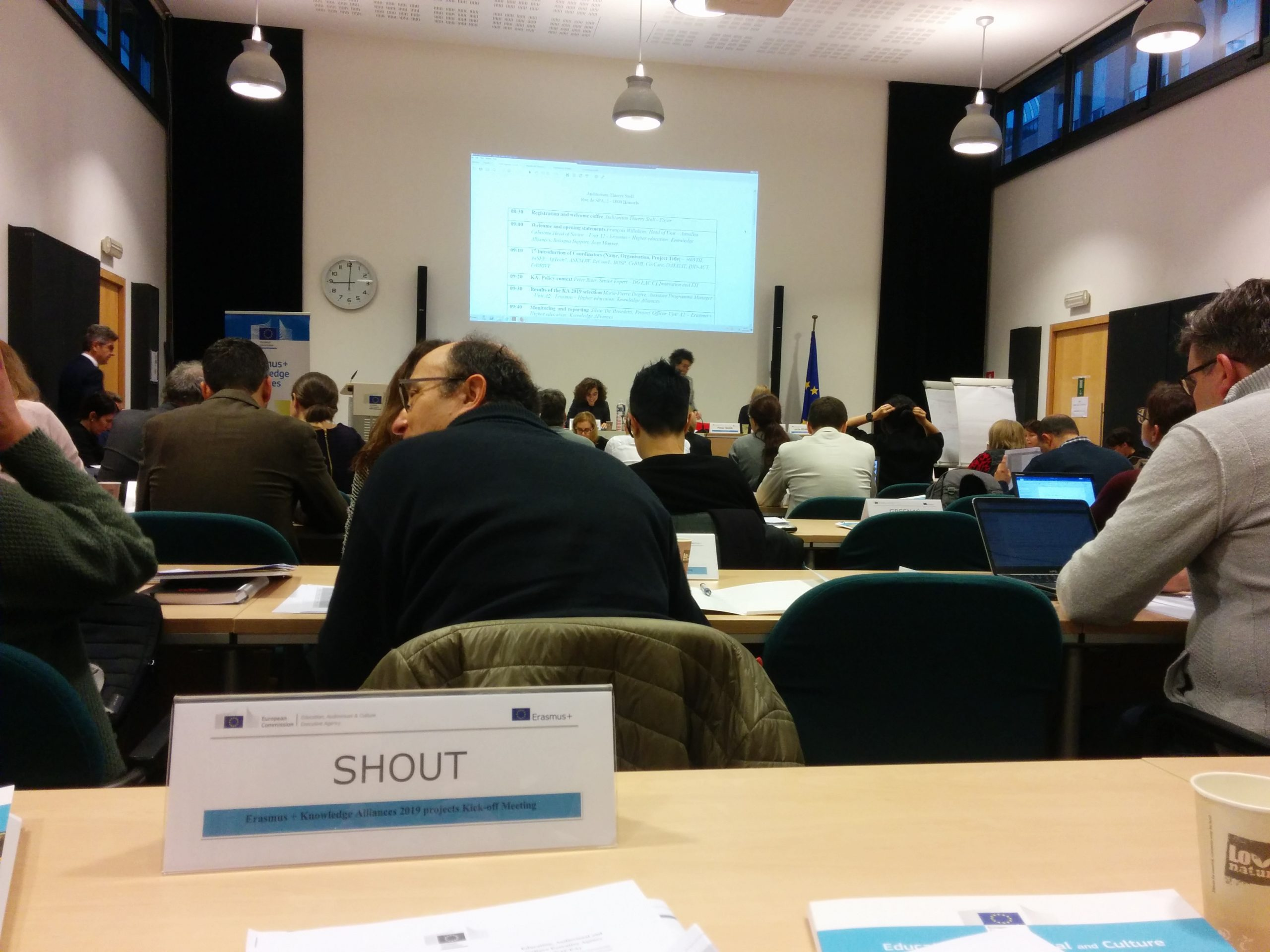 SHOUT present on the Kick Off meeting for Knowledge Alliances coordinators, in Brussels!