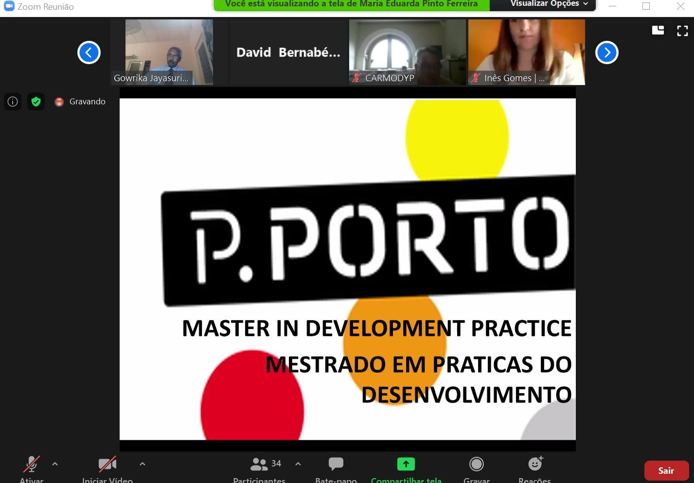 "📣SHOUT took part on the VIRTUAL SEMINAR on ""Sustainable development post COVID – The contribution of MDP"""